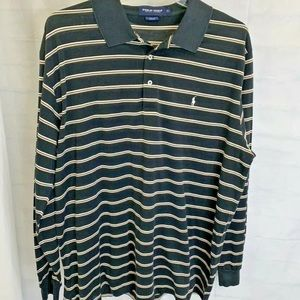 Polo Golf Ralph Lauren Men's XL Shirt Black Beige